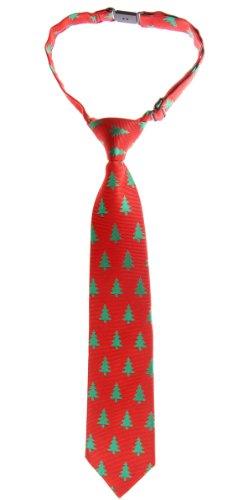Retreez Árbol de Navidad Patrón Tejido PRE-TIED Boy de corbata-varios colores Rojo rosso 24 Meses - 4 Años