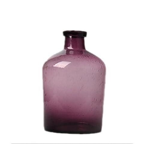 lovcry soufflé à la main Art Bud Vase en verre
