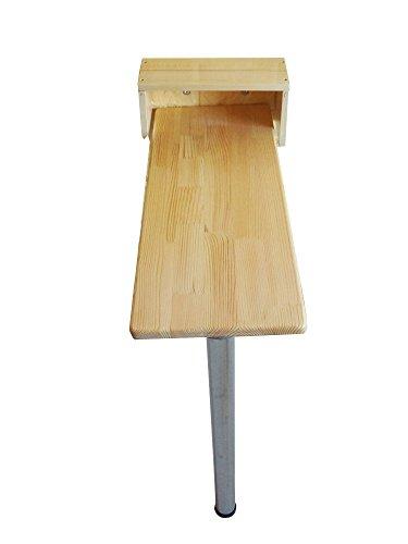 LXFMD Wand-zu-Wand-bar Tisch red Bar Tisch Klapptisch rechteckigen Massivholz Esstisch (größe : 80 * 40cm) - Große Rechteckige Esstisch