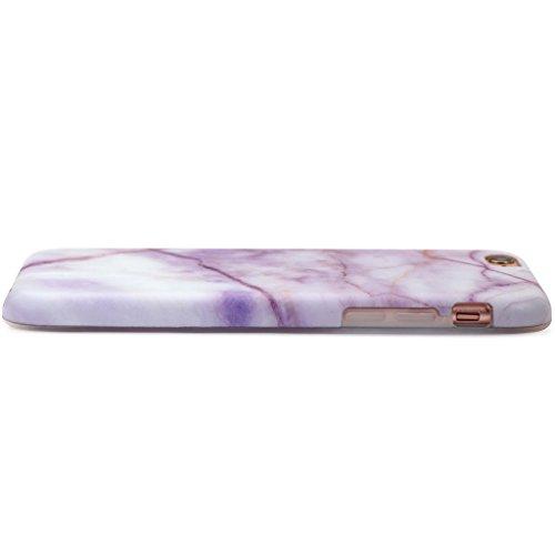 Schutzhülle für Apple iPhone 6 / 6S [Marmor / Marble] Design - Hard case cover Viele Varianten (Weiß - Marble) von Panelize C. & A. Rosa Weiß