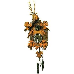 Rhythm - Orologio a cucù, in legno, 24,6 x 60 x 15 cm, colore: marrone