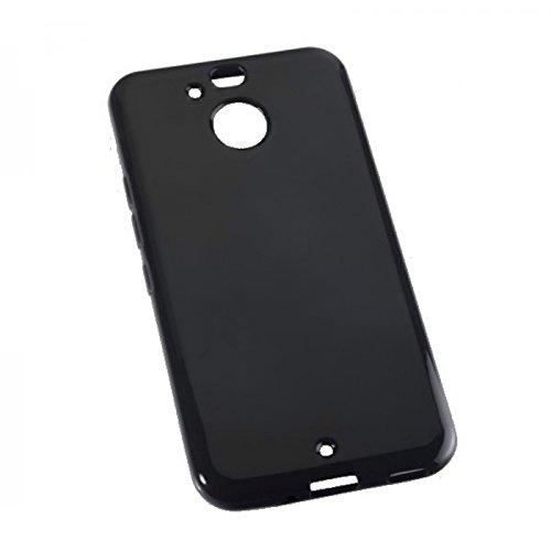 Dark Case Style - Silikon TPU Handy Cover Hülle Schale Kappe in Schwarz - für HTC 10 Evo - Schutz Schutzhülle