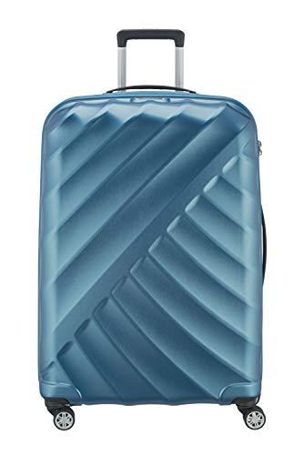 "TITAN \""SHOOTING STAR\"" von TITAN®: Robuste Hartschalen-Trolleys in coolem Metallic-Look in 4 Trendfarben Koffer, 77 cm, 109L, Petrol"
