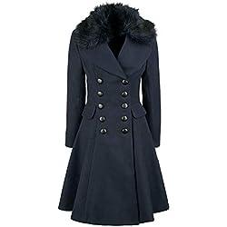 Hell Bunny Milan Coat abrigo de invierno azul marino