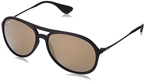 Ray Ban Unisex Sonnenbrille Alex, (Gestell: Schwarz, Gläser: Gold Verspiegelt 622/5A), Large (Herstellergröße: 59)