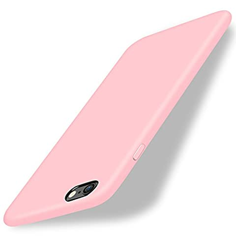 iPhone 6/6s Case,LEFON 4.7 inch Liquid Silicone Gel Rubber iPhone 6/6s Slim Case with Soft Microfiber Cloth Lining Cushion (Baby Pink)
