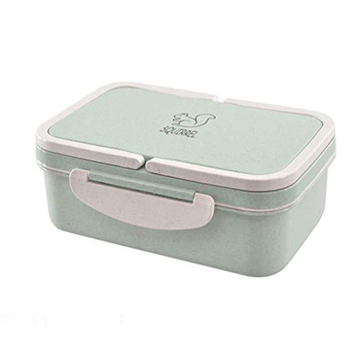 ck Abdeckung Lunchbox Mikrowellenherd Schüler Erwachsener High Capacity Compartment Bento Box greeen ()