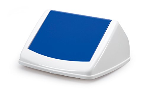 Recycling-kunststoff-square (Durable 1801574014 Deckel Durabin Flip Lid Square für 40 Liter, blau)