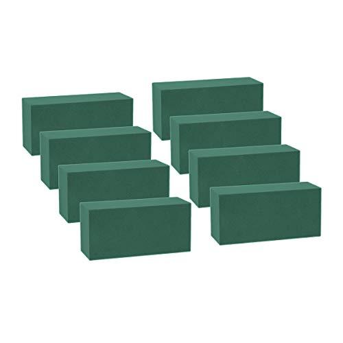 Wei shang 8pezzi mattoni blocchi spugna floreale verde di polistirolo per fresh cut composizioni floreali applicate a secco o bagnato