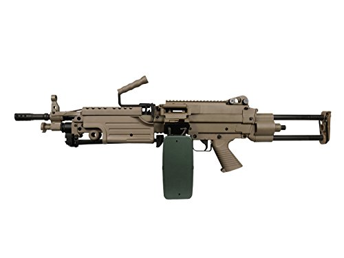 A&K M249 PARA Vollauto Softair / Airsoft Light Machine Gun Maschinengewehr -TAN- < 0,5 Joule