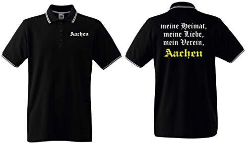 world-of-shirt / Aachen Herren Polo-Retro Meine Heimat, Mein Verein