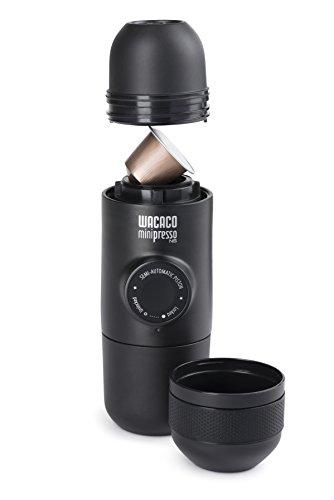 Wacaco Company Minipresso NS, compatible con las cápsulas de marca Nespresso.