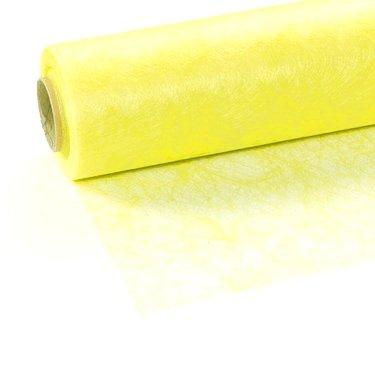 25 m x 30 cm Sizoflor® Vlies Original Tischband Tischläufer Neon gelb hellgelb