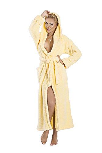 Diana Accappatoio da donna con cappuccio Yellow - Light yellow