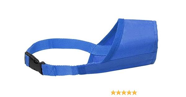 Maulkorb Für Chihuahua Größe S Atmungsaktiv Aus Nylon Bequem Leicht Schnellverschluss Blau Haustier