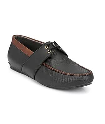SHOE DAY Loafer Shoes for Men Black