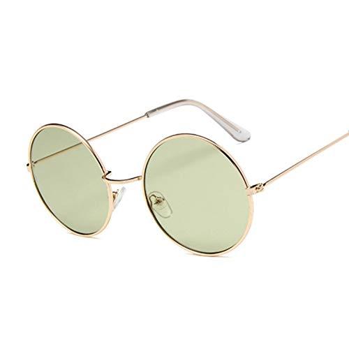 Kjwsbb Kleine runde Sonnenbrille Frauen berühmteVintage Sonnenbrille weibliche Retro persönlichkeit Metall Brillen Stil