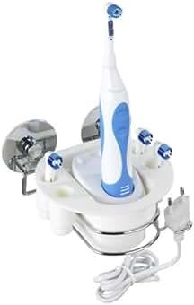 Wenko Turbo-Loc Repisa para Cepillos de Dientes Eléctricos, Acero, Plateado, 14.5