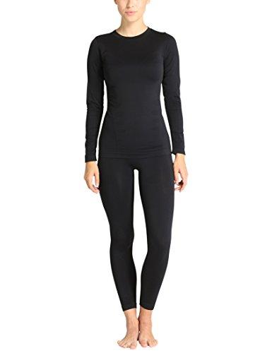 Ultrasport Damen Seamless Funktions-Unterwäsche-Set Comfy, schwarz, M/L, 1409-200