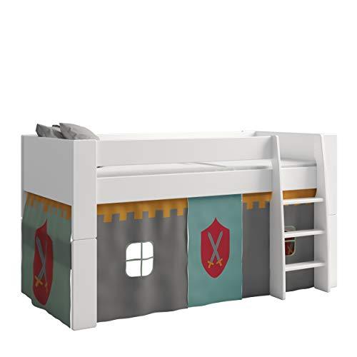 Steens For Kids Vorhangset für Kinderbett, Hochbett, 5 tlg, 176 x 75 x 91 cm (B/H/T), Baumwolle, Grau