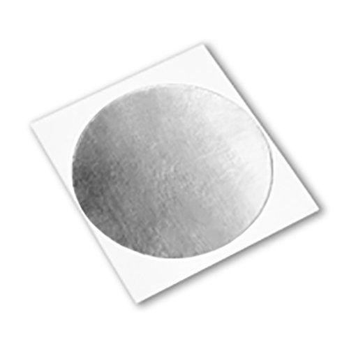 "TapeCase 427 CIRCLE-0.563\""-2000 Shiny Silver Aluminium/Acryl Klebeband, Line Red Aluminiumfolie, umgewandelt von 3M 427, 65-300 Grad F Leistungstemperatur, 0,0046 Zoll dick (2000 Stück)"
