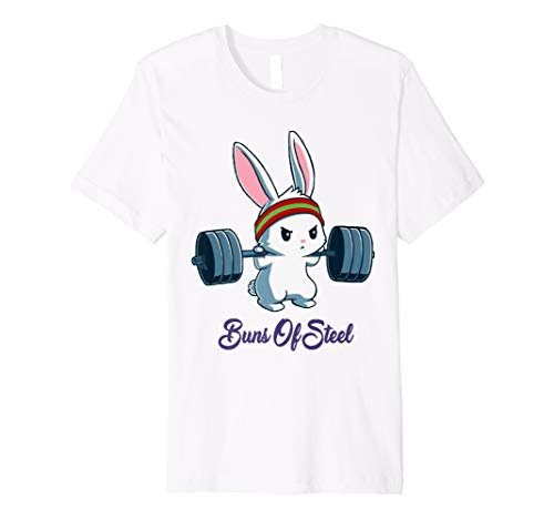 Buns Of Steel Fitness Rabbit Bunny Lover Gym Workout T-Shirt