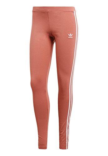 adidas - 3-Bandes - Pantalons de Compression - Femme - Rose - FR: 36 (Taille Fabricant: 34)