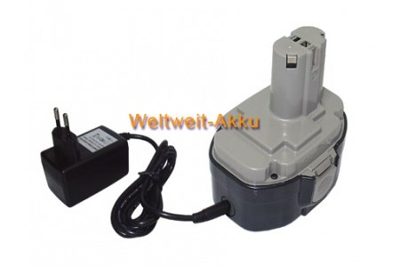 Li-Ion 18.00V 1500mAh From battery type 1822, 1823, 1833, 1834, 1835, 1835°F, 192826-53, 192828-1, 192829-9, 193061-8, 193102-0, 193140-2, 193159-1, 193783-0, Battery Compatible with Makita 4334, 5026, 5036, 5046, 5620, 5621, 6343, 6347, 6349, 8443, 8444, JR180, LS711, LS800, UB181Series Battery + Charger