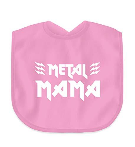 Metal Mama T-Shirt/Geschenk für Muttertag, Geburtstag, Weihnachten/Heavy Metal Fans - Baby Lätzchen -Einheitsgröße-Bubble Gum Pink