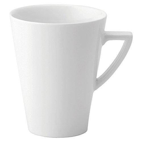 Utopia Anton Noir en porcelaine fine Z03081-000000-b01006 Deco Latte Mug, 8 g (lot de 6)