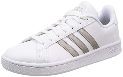Adidas GRAND COURT, Damen Hallenschuhe, Mehrfarbig (Ftwbla/Metpla/Ftwbla 000), 38 EU (5 UK) (Frauen Adidas Tennis-schuhe Für)