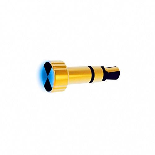 GuDoQi Mini IR Smart Fernbedienung Blau LED Licht 3.5 mm Headset Staub Stecker Smart Control Hausgeräte Für iPhone iPad Serie Geräte Gold (Ir-blaster Für Ipad)