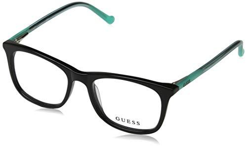 Guess Unisex-Erwachsene GU9164 001 47 Brillengestelle, Schwarz (Nero Lucido), - Guess Brille Frames