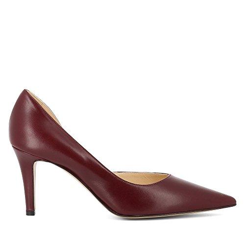 Evita Shoes Jessica Escarpins Femme Cuir Lisse rouge foncé
