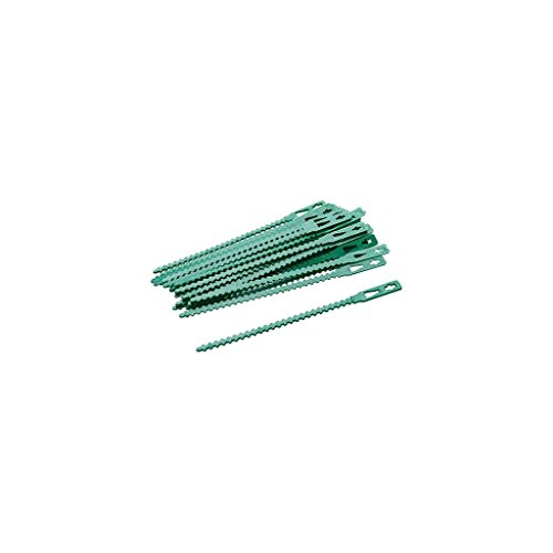 Silverline 197535 Verstellbare Pflanzenbinder, 30er-Pckg. 135 mm
