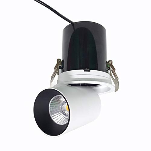 360°Adjustable LED Indoor Ceiling Spotlight-2150LM Surface Mounted COB Lighting-24W LED Warm White Light 3000K/Cool White 6000K Ceiling Downlight,3000k Surface Mounted Box