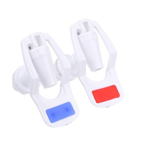 Kalttoy Wasserspender Ersatz-Knopf-Wasserhahn, Kunststoff, Weiß, 2 Stück - Hot Filter Wasserspender