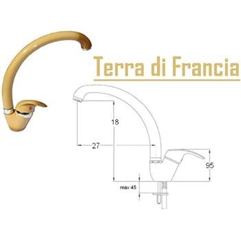 Lavello Cucina In Terra Di Francia.Miscelatore Monocomando Canna Alta Rubinetto Per Lavello Colore