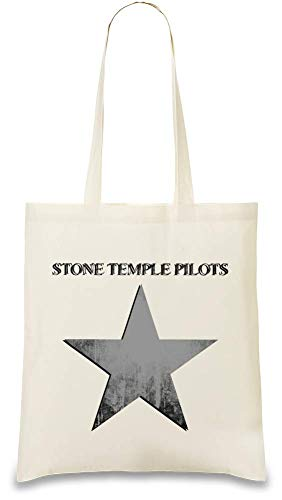 Stone Temple Pilots Stein Tempel Pilots Grunge Star Logo Grunge Star Logo Custom Printed Tote Bag| 100% Soft Cotton| Natural Color & Eco-Friendly| Unique, Re-Usable & Stylish Handbag For Every Day