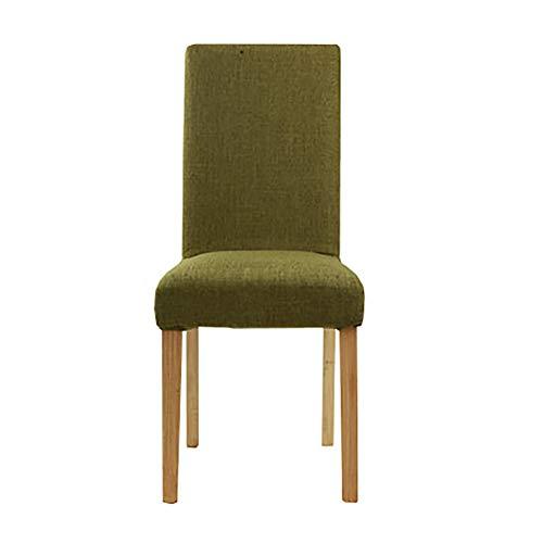 Esszimmerstühle YXX Moderner speisender seitlicher Stuhl, hölzerne Polsterungs-Gewebe-armlose...