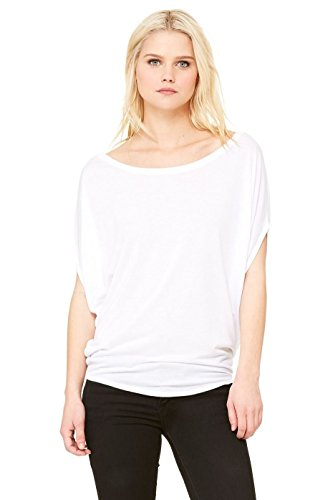 Bella Damen Canvas Flowy 8806 Circle Top Weiß - Weiß