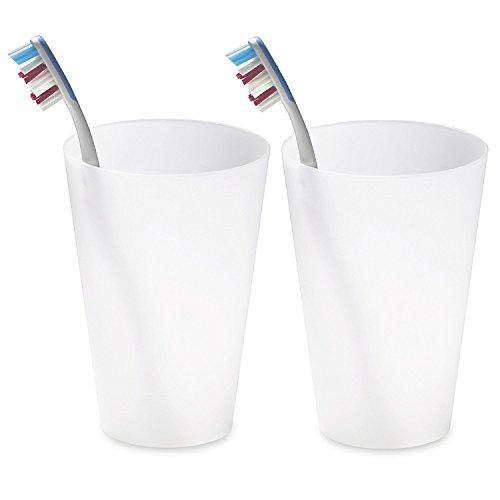 Authentics Cono Tasse, Lot de 2, accessoires de salle de bain, blanc translucide, 1022728