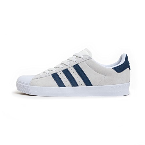 adidas Skateboarding Superstar Vulc ADV, crystal white-collegiate navy-ftwr white, 6,5 (Street-basketball-moves)