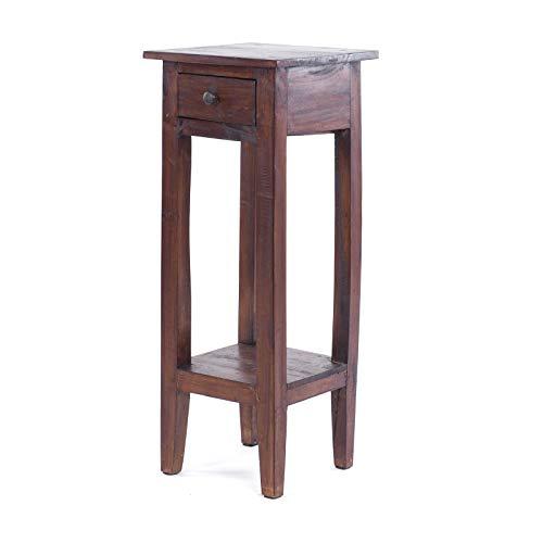Invicta Interior Antiker Telefontisch HEMINGWAY Mahagoni Shabby Chic Coffee Beistelltisch Massivholz Telefontisch Holztisch -