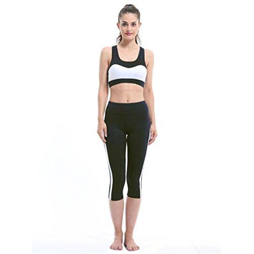 Für Kostüm Herren Indien Schwimmen (DOLDOA Frauen Fitness Sport Leggings Mesh Patchwork Hohe Taille Slim Yoga Hosen (Schwarz, Größe: L Taille: 70-90cm / 27.6-35.4)