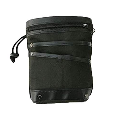Alextry Metalldetektortasche mit Hakenfächern, Metallzubehör, Detektor-Tasche Schwarz