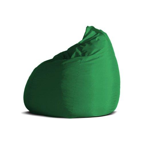 Pouf-poltrona-sacco-media-BAG-L-Jive-tessuto-tecnico-antistrappo-verde-prato-imbottito-Avalon