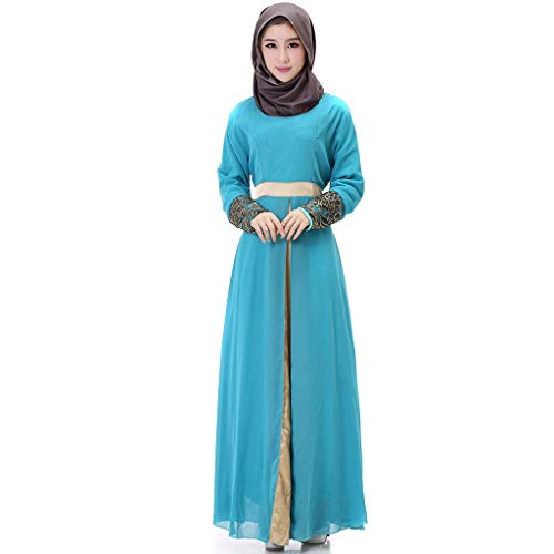 URIBAKY Muslim Kleid-Damen langes Maxi-Kleid,moslemische Kleidung Pakistanische Frauen Kleid Party Wear Kleid Designer Frauen Indian Abaya - 2