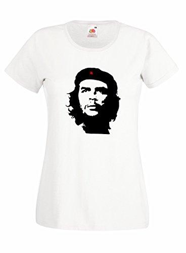T-shirt Donna El Chè - maglietta Che Guevara 100% cotone LaMAGLIERIA Bianco