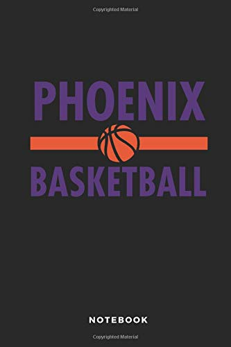 Phoenix Basketball Notebook: 6x9 Blank Lined Basketball Composition Notebook or Journal for Coaches and Players por iHoop Publishing